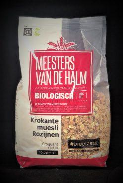 Meesters van de Halm Muesli rozijnen (biologisch)