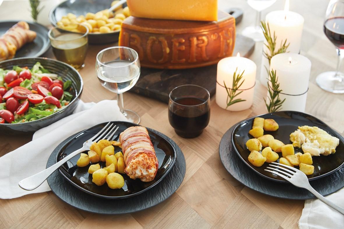Kipfilets met bacon en kaas
